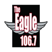 106.7 The Eagle logo