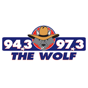94.3/97.3 The Wolf logo